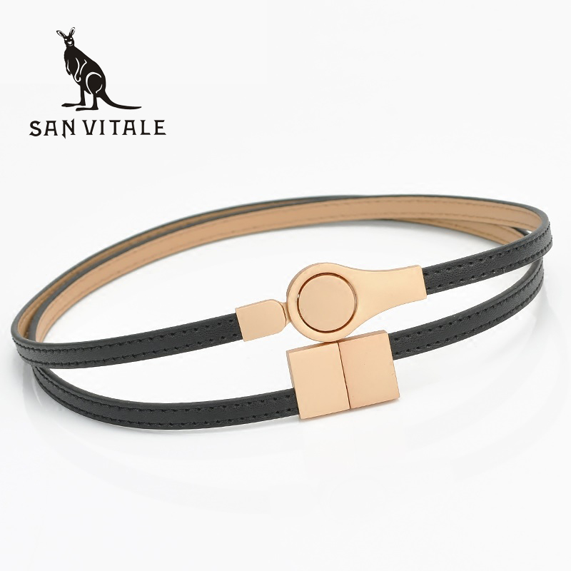 New Women Fashion <font><b>Belts</b></font> Genuine Leather Elegant Elastic Waist band Luxury Jeans Dress Female High Quality Straps Ceinture Femme image