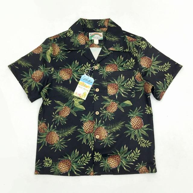 Bob dong masculino vintage havaiano aloha abacaxi impressão floral camisa hawaii manga curta praia festa cruzeiro camisas luau pôr do sol xxl