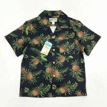 Camisa Vintage hawaiana con estampado Floral de Bob Dong para hombre, camisa con estampado de piña Aloha hawaiana, camisas hawaianas de manga corta para fiesta en la playa, crucero, Luau, puesta de sol XXL
