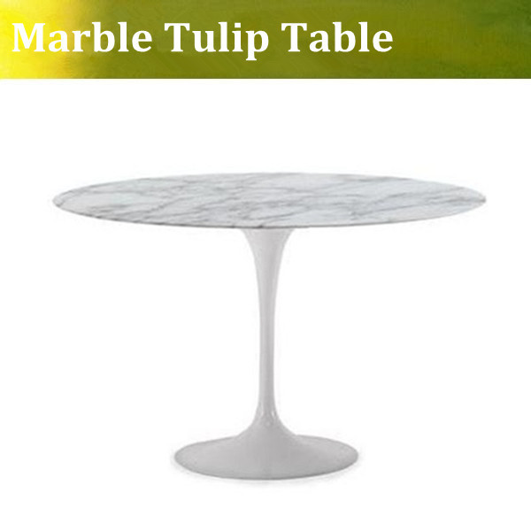 U-BEST High quality Eero Saarinen marble Tulip Dining Table ,Oval tulip side table,fiberglass tulip table marble table natural travertine dining table set luxury high quality natural store marble dining furniture table set nb 175