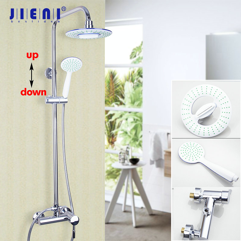 US Chrome Stainless Steel Bathroom Square Shower Head Taps Rainfall Spout Faucet