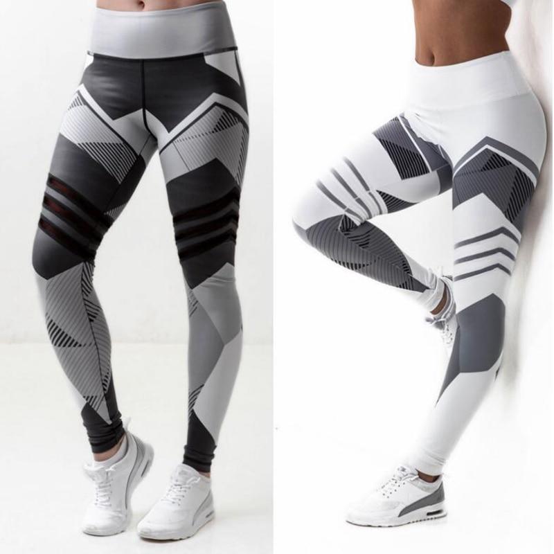 Women yoga sports high waist leggings fitness Gym irregular tight patchwork Running Jogging bodybuilding pant 3
