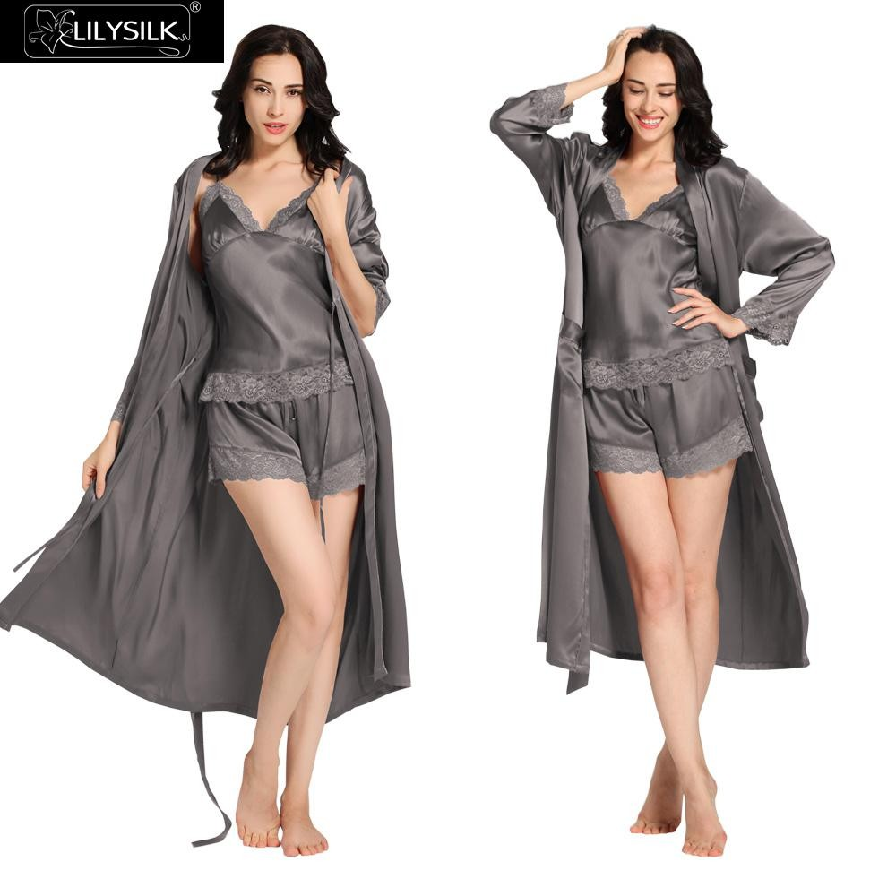 1000-dark-gray-22-momme-lace-silk-camisole-&-dressing-gown-set