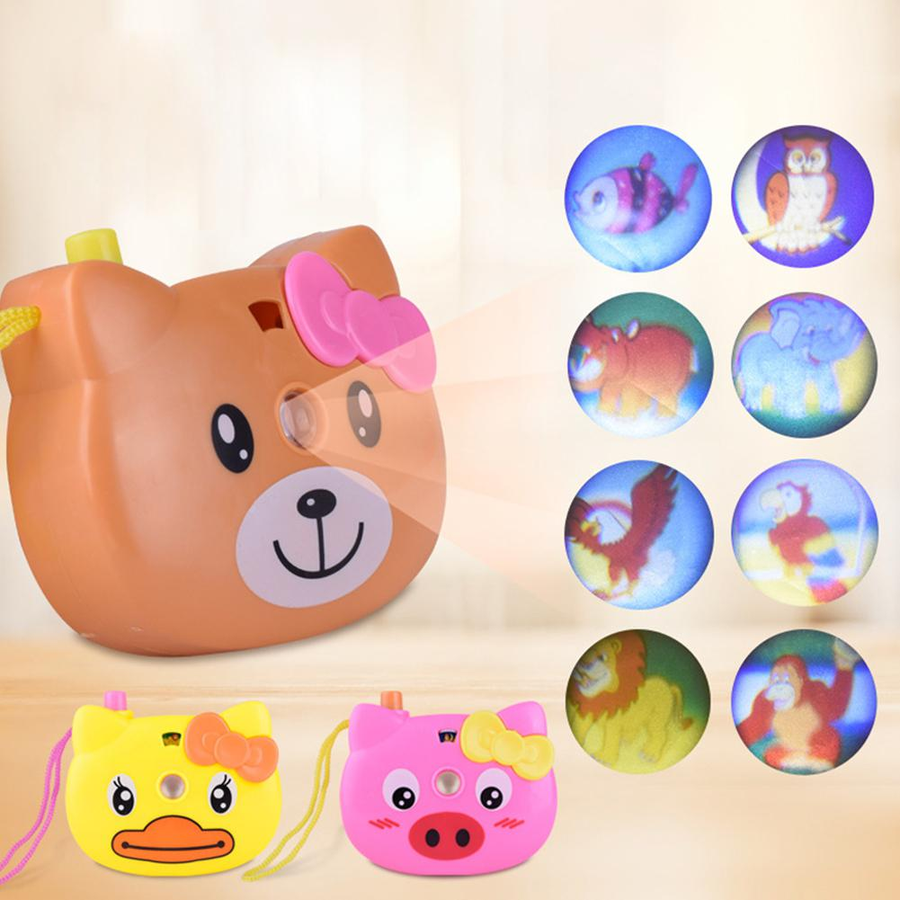 LeadingStar Educational Cartoon Projection Camera Toy Animal Pattern Light Projection Children Toy Random Color
