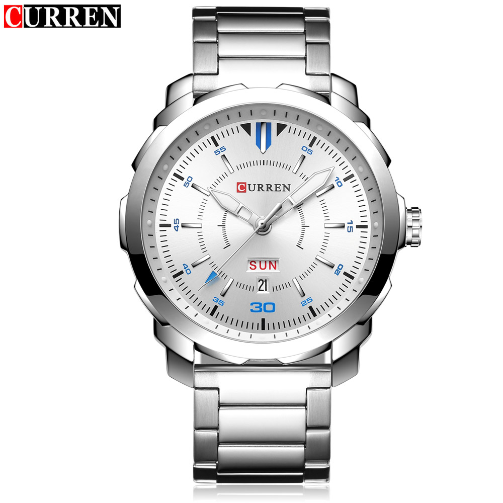 цена на HOT 2017 CURREN Watches Men quartz TopBrand Analog Military male Watches Men Sports army Watch Waterproof Relogio Masculino