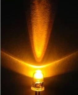 3MM LED Light-Emitting Diodes White Glow Yellow Light Highlighted Luminous Tube 100 PCS / 1 Lot