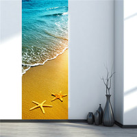 3D Plaża Naklejki Ścienne Naklejka Art Decor Vinyl Zdejmowane Ścienne Plakat Sceny Okna Drzwi Hurtowni Darmowa Wysyłka RJL13 # A10