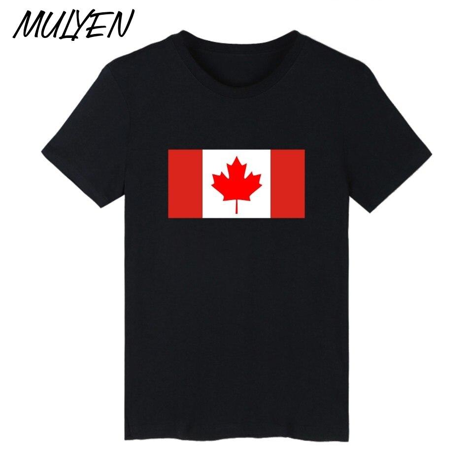 Design t shirt online canada - Mulyen Canada Flag Design T Shirt Men Red White Maple Leaf Print T Shirt Cotton