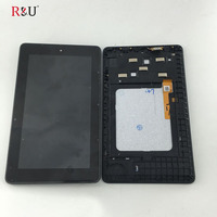 7 Inch LCD Display Touch Screen Panel Digitizer Glass Assembly With Frame Replacement For Amazon Kindle