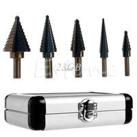 Hss Cobalt Multiple Hole Drill Bit Set W Aluminum Case 5PCS SET JUL27 20