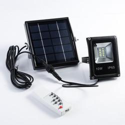 10 W LED impermeable lámpara Solar Powered Sensor focos Luz de inundación jardín exterior lámpara de seguridad Mayitr