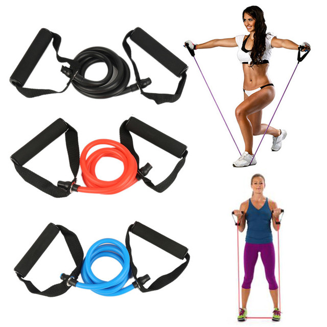 1Pcs Yoga Fitness Equipment Resistance Exercise Band Tubes Stretch Workout Pilates Home Gym Training Equipment 2019 Hot Sale 1