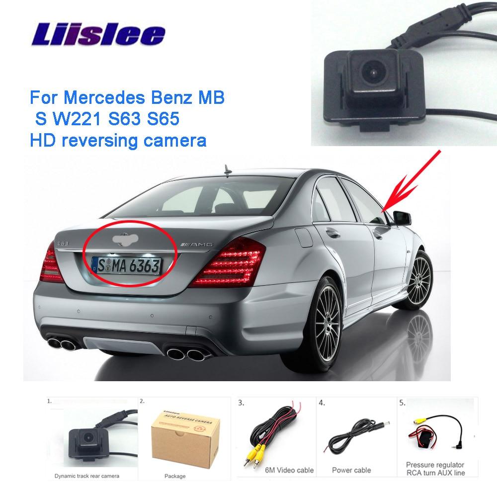 Liislee dla Mercedes Benz S W221 S63 S65 S300 S350 kamera cofania kamera cofania HD CCD