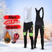 2019 winter thermal cycling pants men's pro gel pad long mtb mountain bike tights warm bib sport bicycle trousers spots outdoor