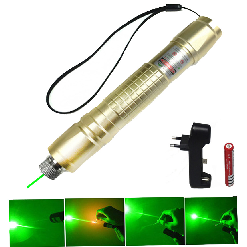 Hunting Green Laser Pointer 532 nm 10000m Hang-type Lazer Pen Long Distance Lasers Sight +EU Charger+18650 BatteryHunting Green Laser Pointer 532 nm 10000m Hang-type Lazer Pen Long Distance Lasers Sight +EU Charger+18650 Battery
