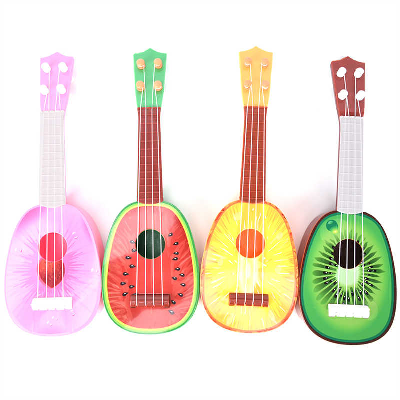 Fruit Style 4 String Guitar Ukulele Musical Instrument Kids Christmas Gift Toy New Super Cute Children