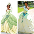 Custom Made The Princess and the Frog Princess Tiana Dress For Dance Party Green Adult Cosplay CostumeWith Free petticoat
