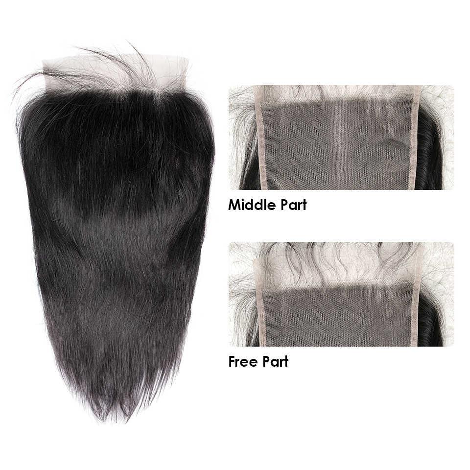 HJ Weave uroda 6x6 koronki zamknięcie Pre oskubane z dzieckiem włosów naturalna linia włosów brazylijski Prosto remy włosy HD przejrzyste koronki