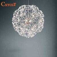 Free Shipping Dandelion Design G4 Crystal Chandelier Light Modern Lustres De Cristal Dia50 H150cm