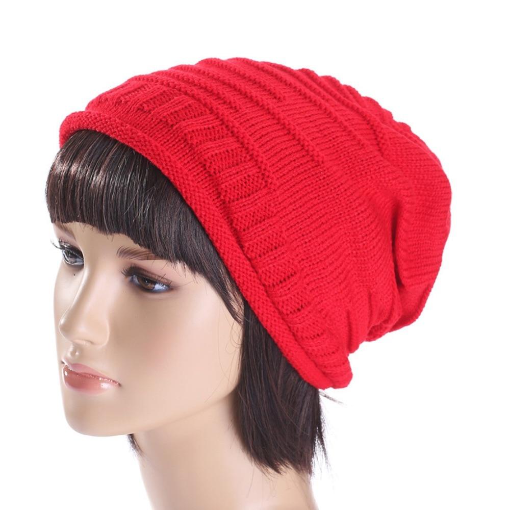 Warm Fall   Skullies     Beanie   Winter Unisex Soft Knit Hat Warm Hip-hop   Beanie   Solid Cap for Man & Woman