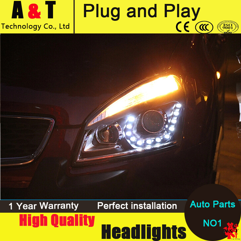 Car Styling Head Lamp for Nissan Qashqai led headlight 2009-2014 New Qashqai headlights drl headlight H7 hid Bi-Xenon Lens