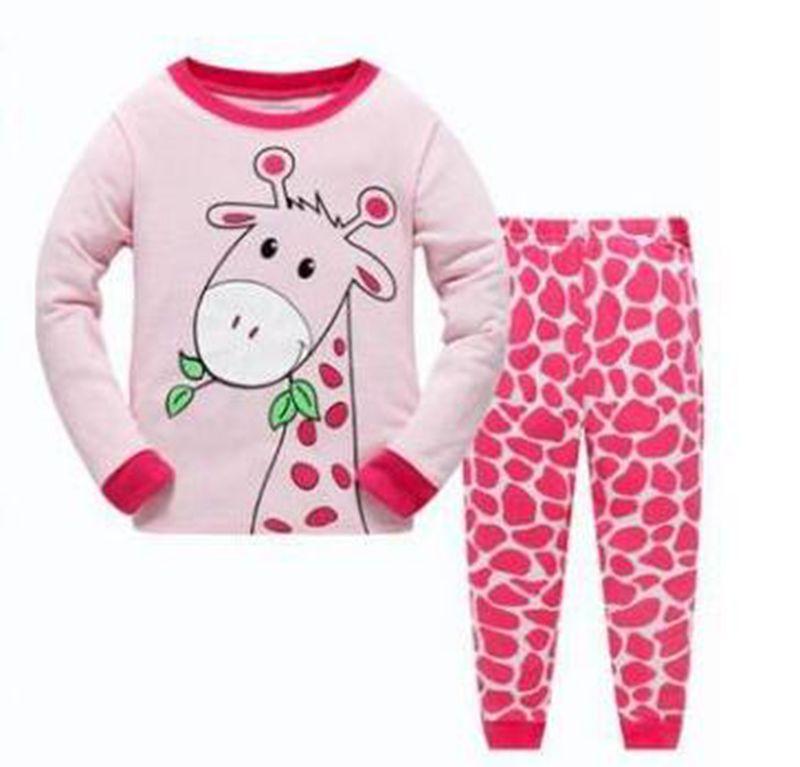 Hooyi Baby Girl Cotton Red Dot Long Sleeve Pijamas Suit