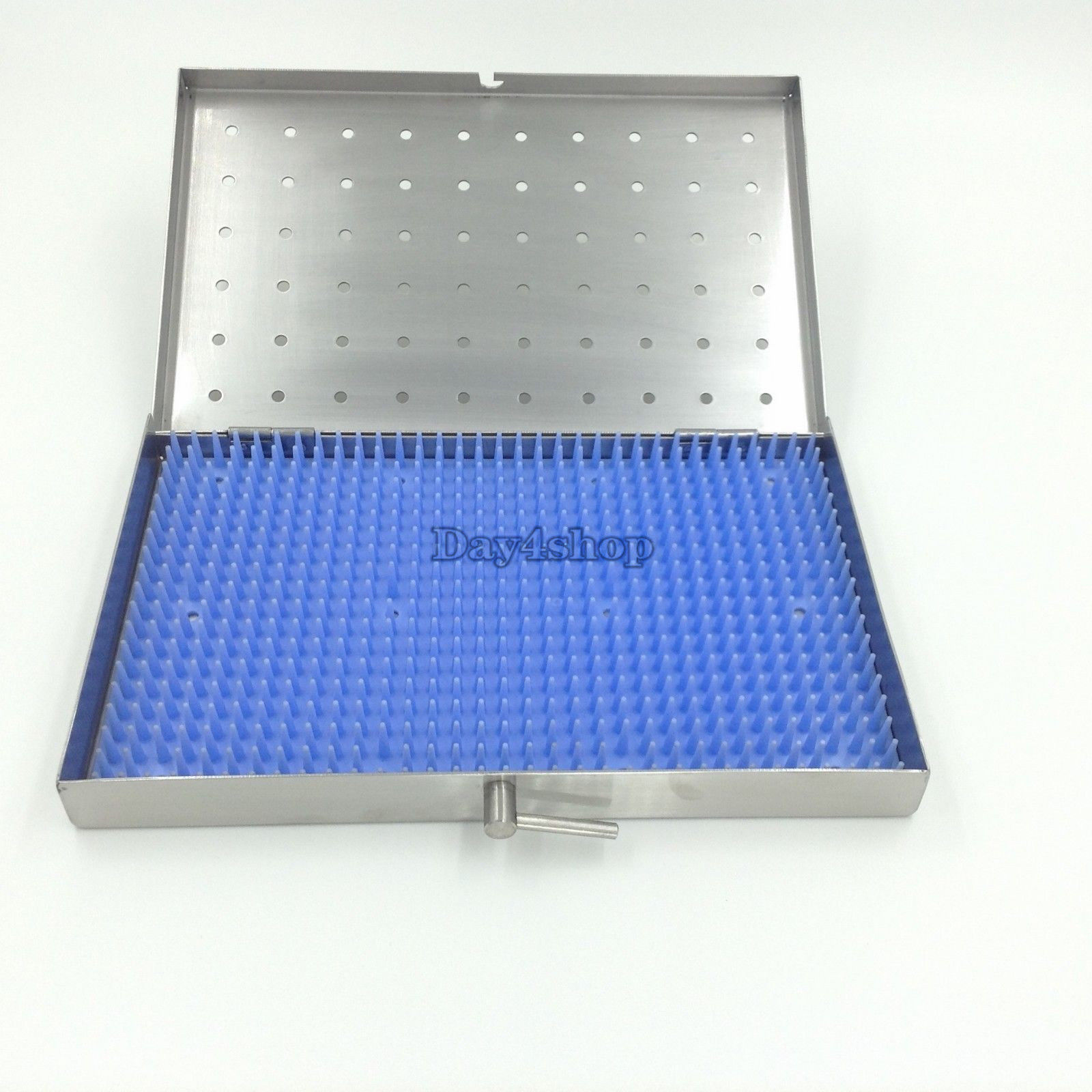 1Set Stainless Steel Sterilization Tray Case Middle Size Surgical Instrument