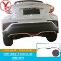 YCSUNZ ABS углеродное волокно Задняя Крышка багажника отделка багажника защита части автомобиля Стайлинг Аксессуары для toyota chr c-hr 2018 2019