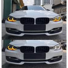 Untuk BMW M3 F80 M4 F82 Putih & Amber M4 Ikonik LED Angel Eyes Kit Halo Cincin Sein cahaya(China)