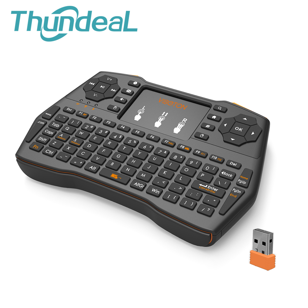 ThundeaL i8 Plus 2 4GHz Russian Deutsch Backlit Keyboard for PC TV Box USB Wireless Fly