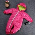 Теплая Зима Новые 2016 Девочка Мальчик Дети С Капюшоном Малыш Snowsuit Пальто Куртки И Пиджаки Одежды Снег Износ