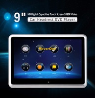 2Pcs X 9 Inch Touch Screen Headrest Monitor Car DVD Player With Wireless Game HeadPhone, Car Headrest Mount Portable DVD Player