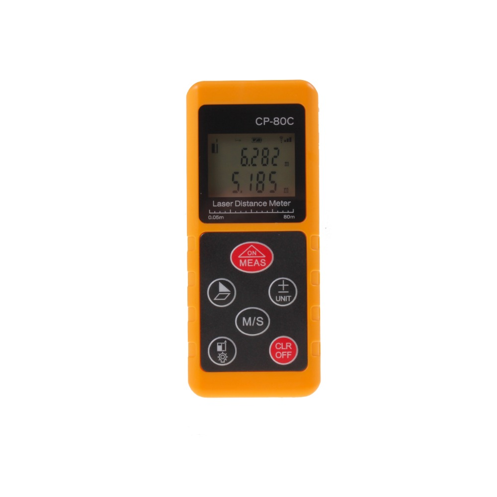 ФОТО LCD Mini Range Finder Digital Laser Distance Meter Diastimeter 80M CP-80C 2016 Laser Tape Measure Ruler Area Tester Tools