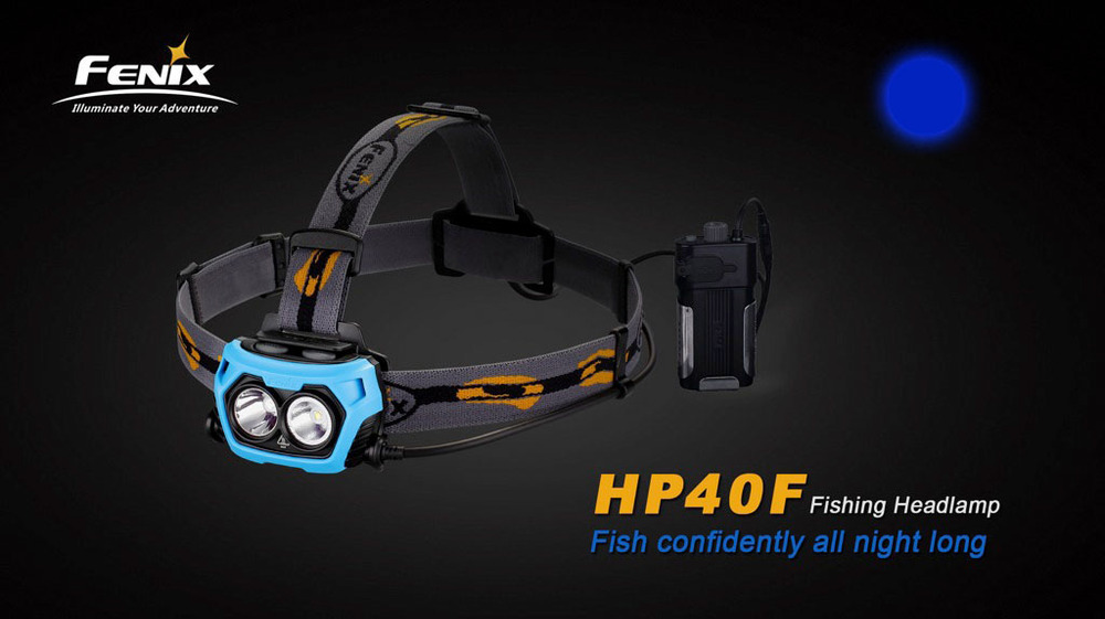 Fenix HP40F Fishing Headlamp Cree XP-G2 R5 450lm With Blue Light Farol Head Lamp Lanterna de cabeca free shiping