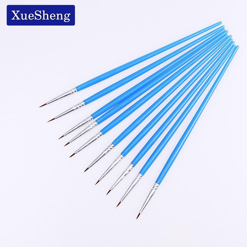 10 Pcs/Set Fine Hand Painted Thin Hook Line Pen Blue