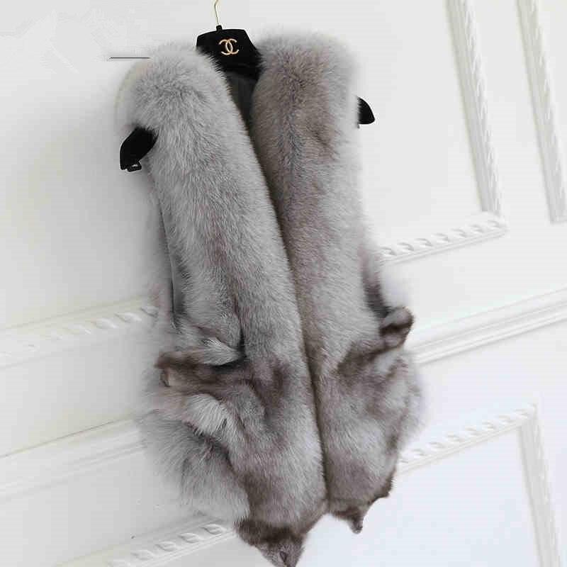 Nový příchod Perfektní vzhled Pravá liška vesta Gilet .autumn Zima nejprodávanější Originální liška kožešina Cape šály svatební šály