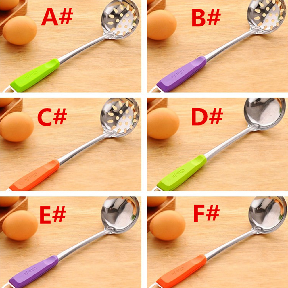 Stainless Steel Wall Hanging Long Handle Soup Ladle Spoon Skimmer ...
