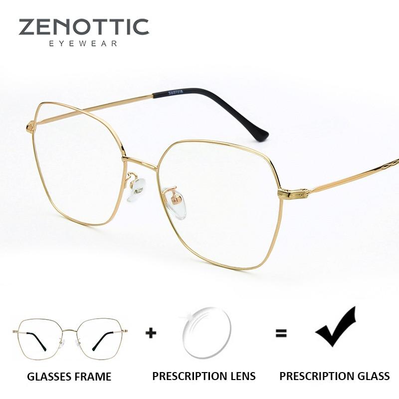 9a9955baea ZENOTTIC Fashion Prescription Glasses Women Anti-Blue-Ray Myopia Eyeglasses  Optical Clear Photochromic Eye. US  21.99. ZENOTTIC Retro Round Prescription  ...