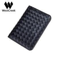 Men S Women S Sheepskin Hand Made Knitting Genuine Leather Passport Holder Credit ID Card Holders