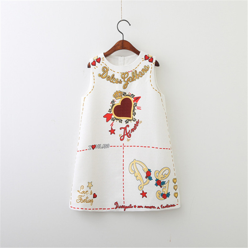Hot  Girls Dress Spring Autumn European and American Style Embroidery Flower Vest Dress Toddler Baby Girls Clothing 2-8YrsHot  Girls Dress Spring Autumn European and American Style Embroidery Flower Vest Dress Toddler Baby Girls Clothing 2-8Yrs