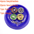 Beyblade Stadium Set Metal Fusion 4D Bayblade With Launcher Handle Stage Rapidity Master Fight Rare Spinning Top Gift Toys #E