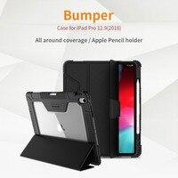 For iPad Pro 11 Case for iPad Pro 12.9 2018 Shockproof TPU Soft Back Slim PU Leather Smart Wake/Sleep Cover For iPad Pro 9.7''
