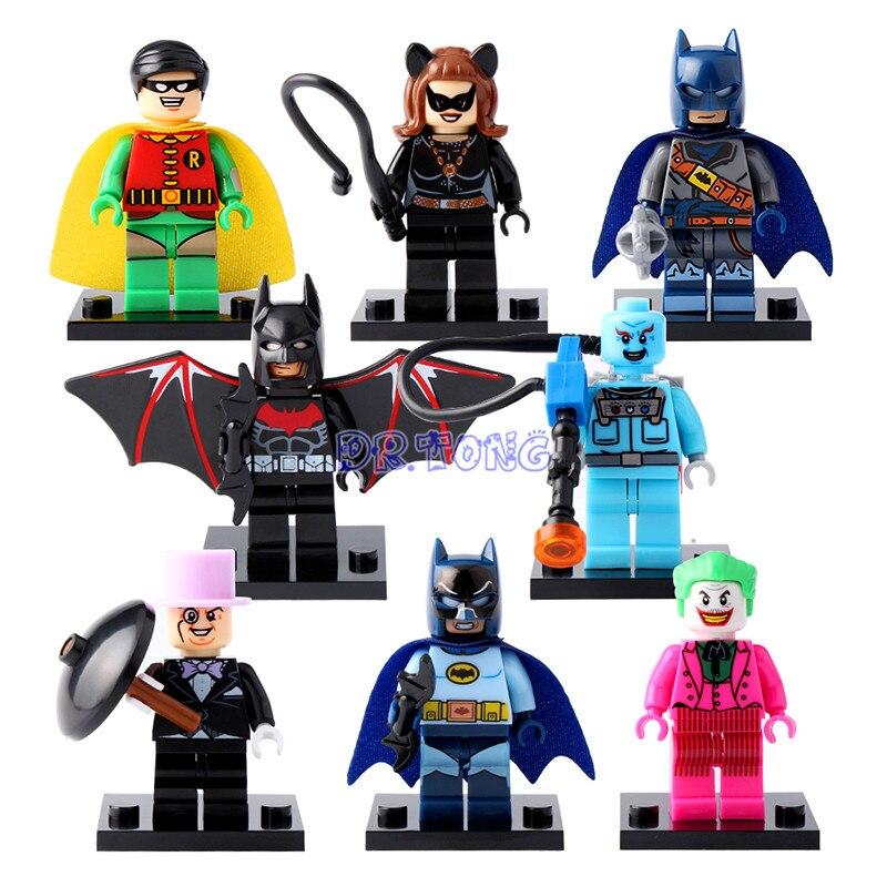 DR.TONG X0111 DC Super Heroes Batman Joker Mister Freeze Robin Catwoman Mini Dolls Building Blocks Bricks Toys For Children a toy a dream super heroes movie joker poison ivy calendar of people batman robin bricks building blocks toys lele 34012