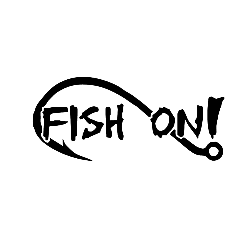 Fishing Enthusiast Hook Fish On Car Stickers For Motorhome