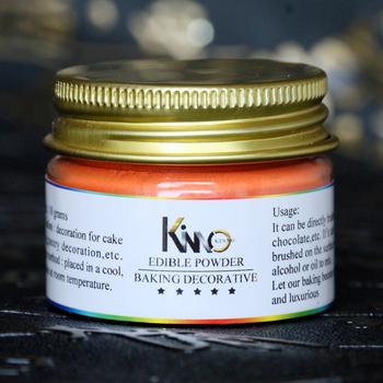 10g na butelkę pomarańczowy kolor jadalna żywność w proszku do dekoracji czekolady i ciasta sztuki do dekoracji żywności sztuki żywności w proszku tanie i dobre opinie -KSYF-