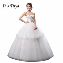 Free Shipping Sequins Bow Waist Fashion Strapless Wedding Dresses Cheap White Bridal Frocks Custom Made Vestidos De Novia MH34