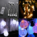 10 LED Bubble Ball Wedding Xmas Party Decor Outdoor Fairy String Lamp 7 Color Atmosphere Light FULI
