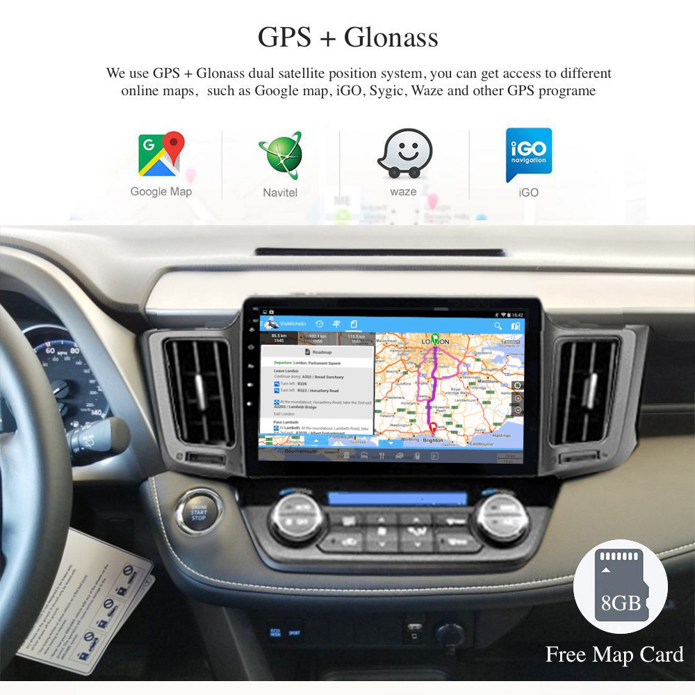 Dasaita 10.2 Hd Touch Screen Android 9.0 Gps Car Radio 1 Din Autoandroid For Toyota Rav4 2014 2015 2016 2017 2018 Car Player Discounts Price Car Intelligent System Automobiles & Motorcycles