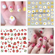 3d nail sticker Newest CA series 529 530 531 strawberry design decals DIY decorations for wraps
