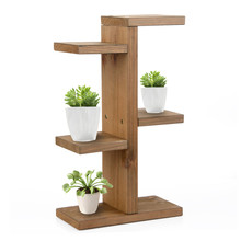 Storage Rack, Mini Plant Stand Small Stool Display Wood Tiered Succulent Planter Stand for Indoor Outdoor Home Office Decorative